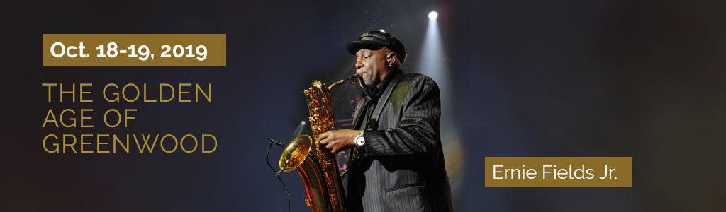 Ernie Fields Jr. playing saxophone