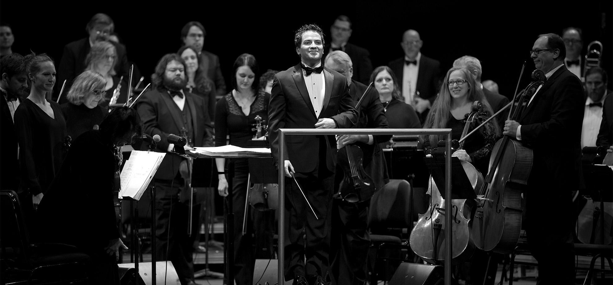 Andrés Franco and musicians