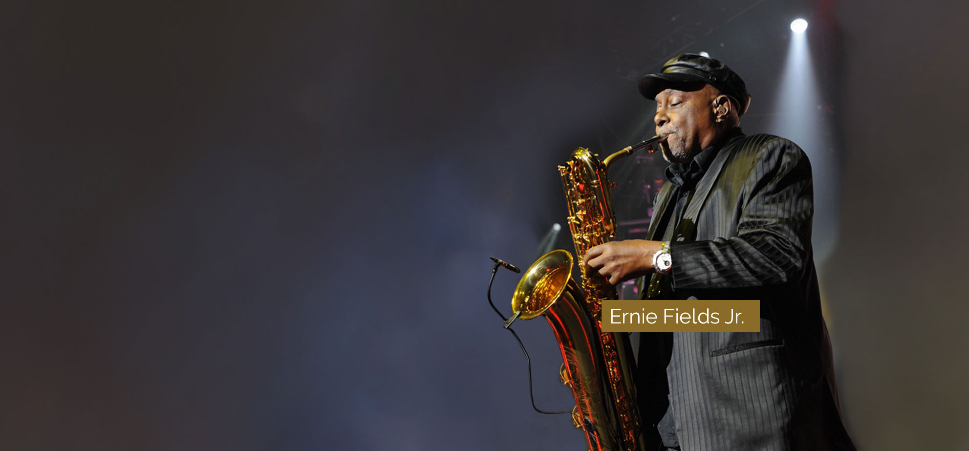 Ernie Fields Jr. performing with Saxophone