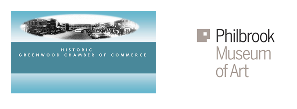 Greenwood Chamber of Commerce & Philbrook Museum Logos