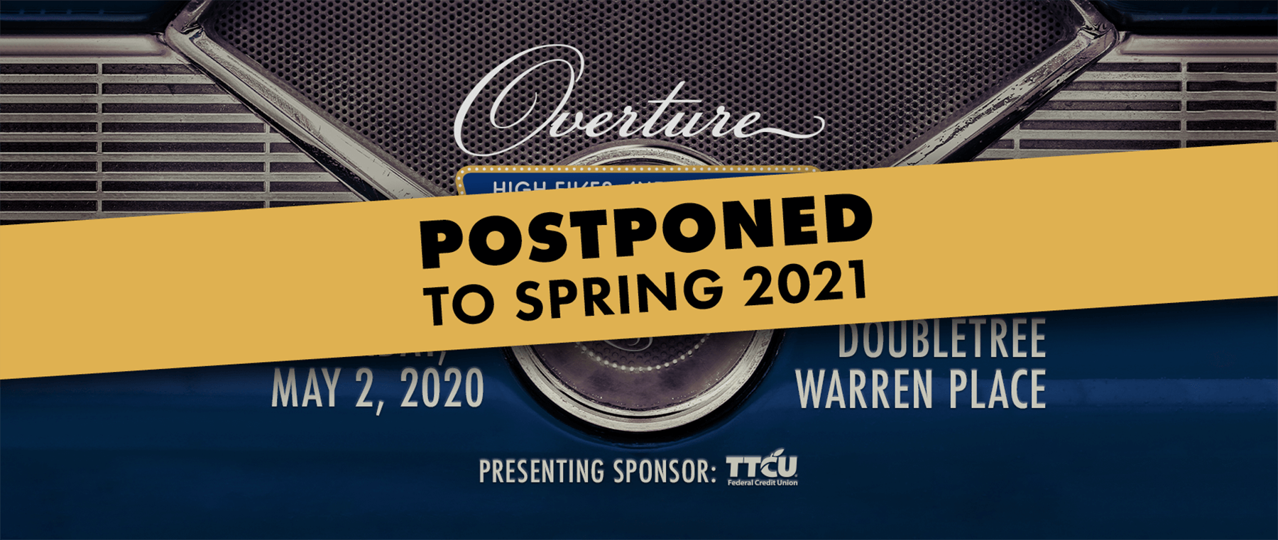 Overture Event: Postponed to spring 2021